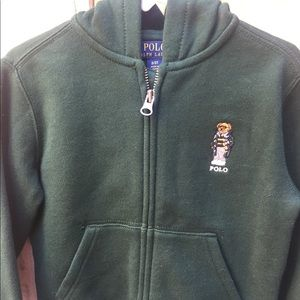 NWT Hunter Green Polo Hoodie
